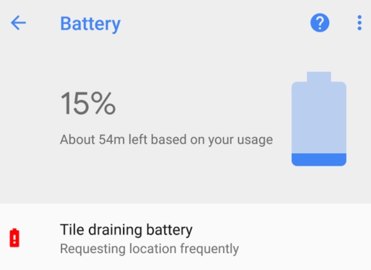 App Draining Battery Alert