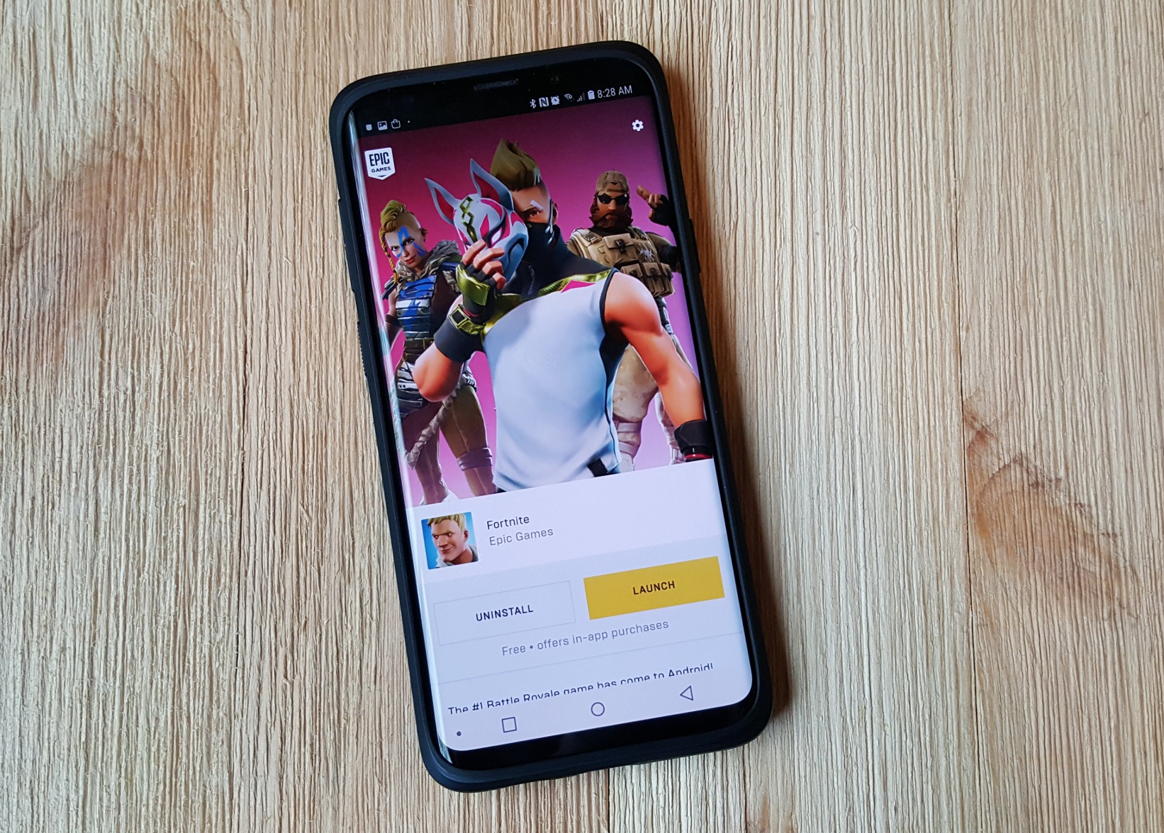 Google telling users that the Play Store doesn't have Fortnite
