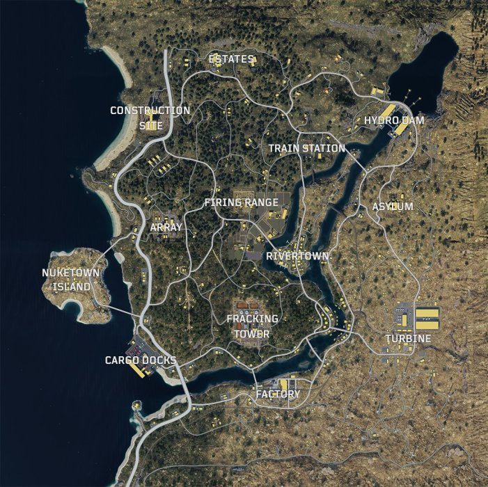 This is the Call of Duty: Black Ops 4 Blackout map.