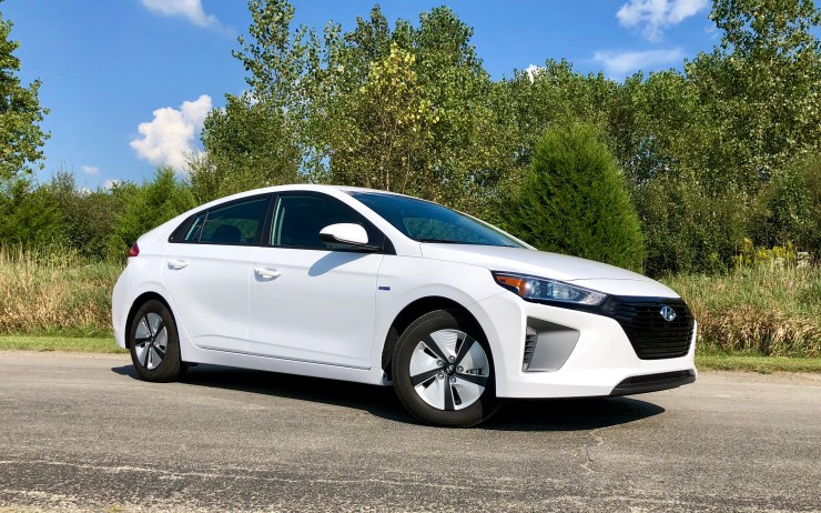 The Ioniq Hybrid design isn't attention drawing, but it is modern and fitting of this hybrid compact hatchback.