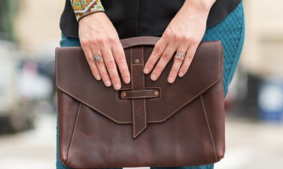 An amazing looking leather sleeve and bag for your MacBook Air.