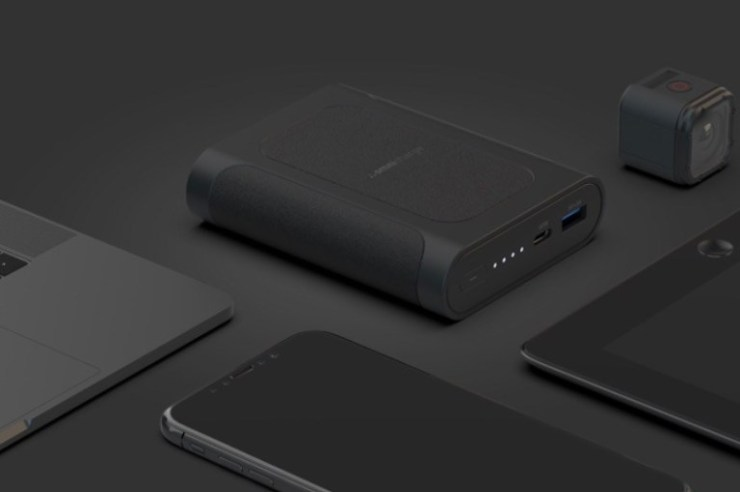 Charger anywhere with an external battery pack.