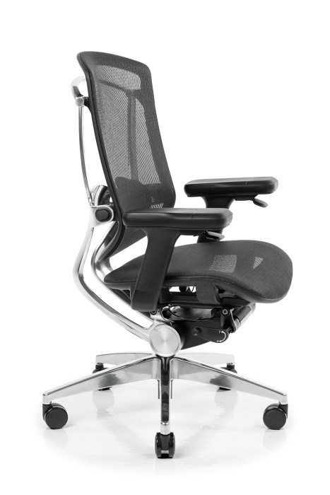 The NeueChair Silver features a new way to control your chair.