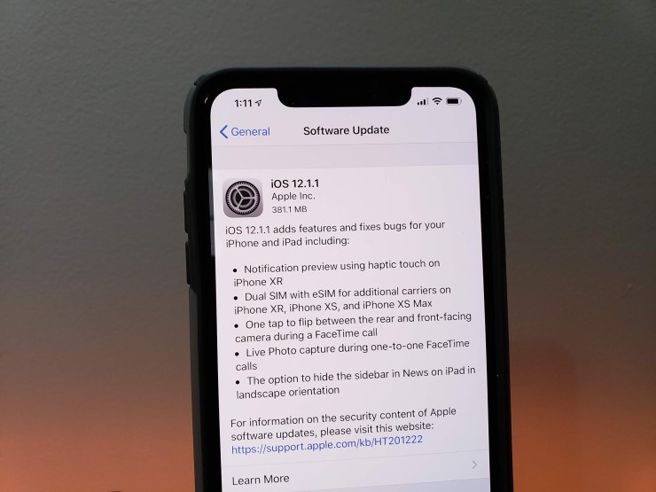 Install iOS 12.1.1 for Better Security