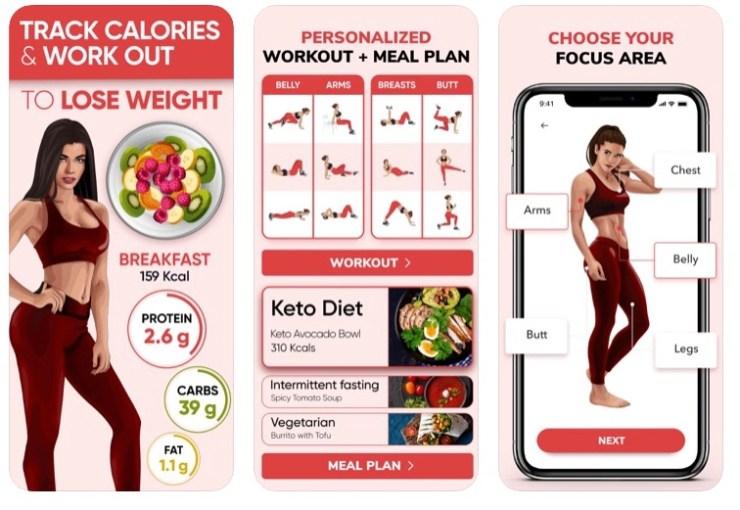 Captures d'écran de l'appli BetterMe Weight Loss