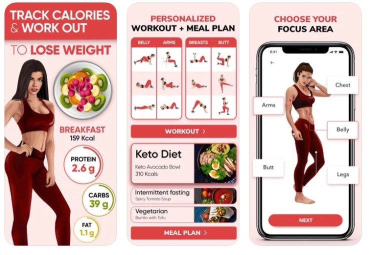 BetterMe Weight loss app screenshots