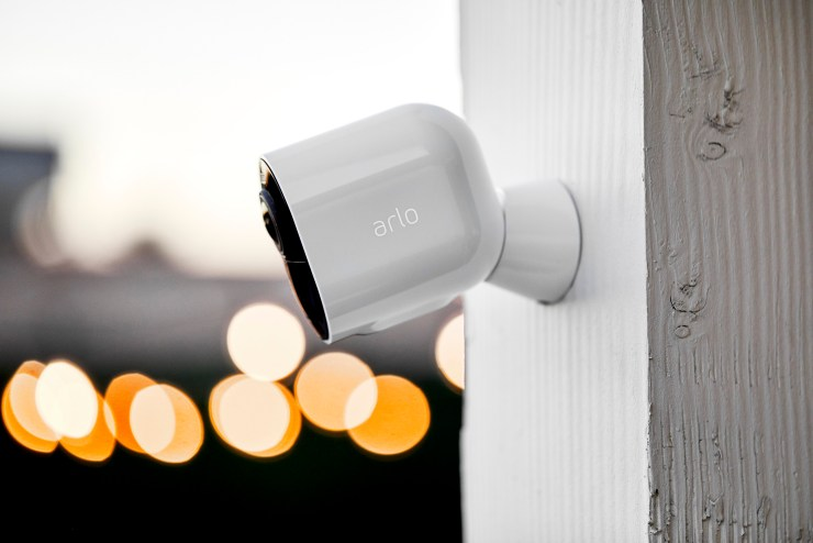 The Arlo Ultra delivers 4K streaming, HDR for better images, a spotlight for night mode with color and the ability to zoom in on key events.