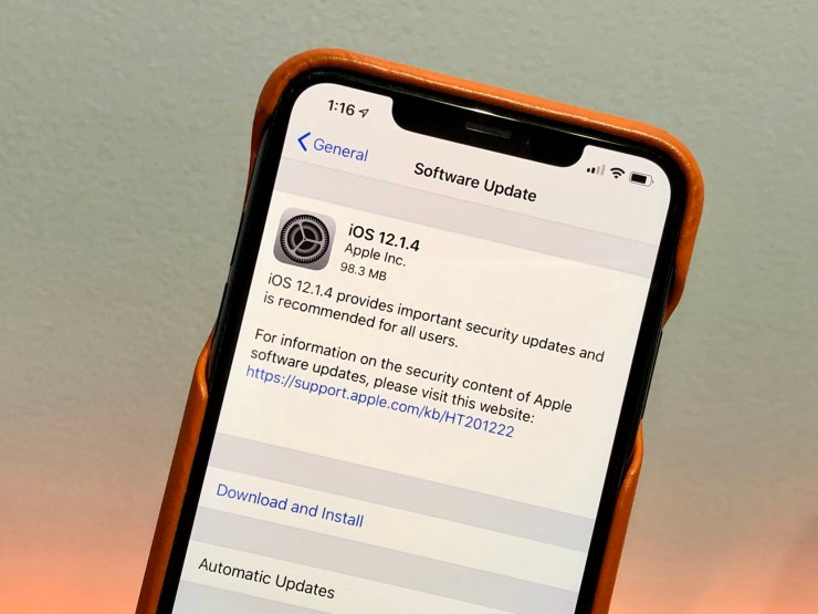 Install iOS 12.1.4 for Better Security