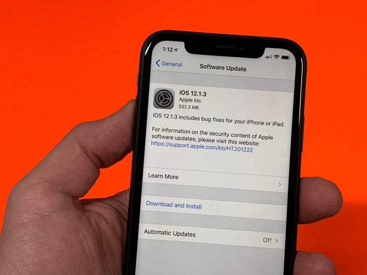 Install iOS 12.1.3 for Better Security