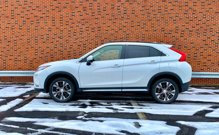 The 2019 Eclipse Cross handles snow with ease thanks to S-AWC.