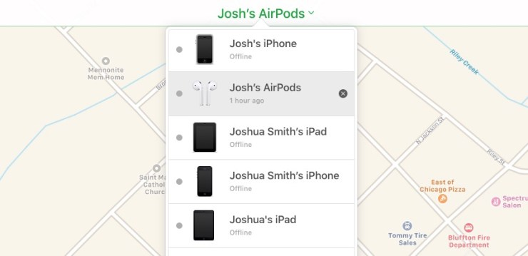 Remove your AirPods from iCloud.
