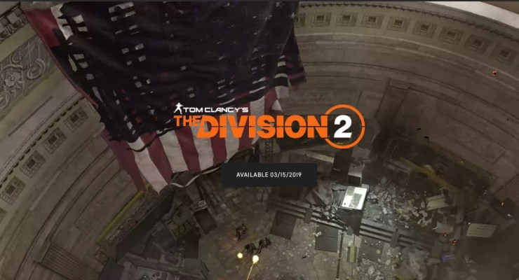 Pre-Order The Division 2 for Deals