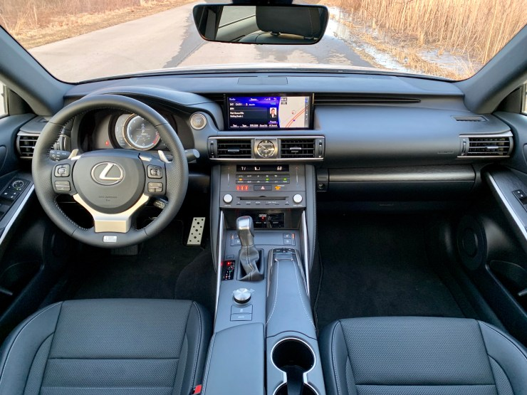 Lexus' material choice and interior design is spot on.