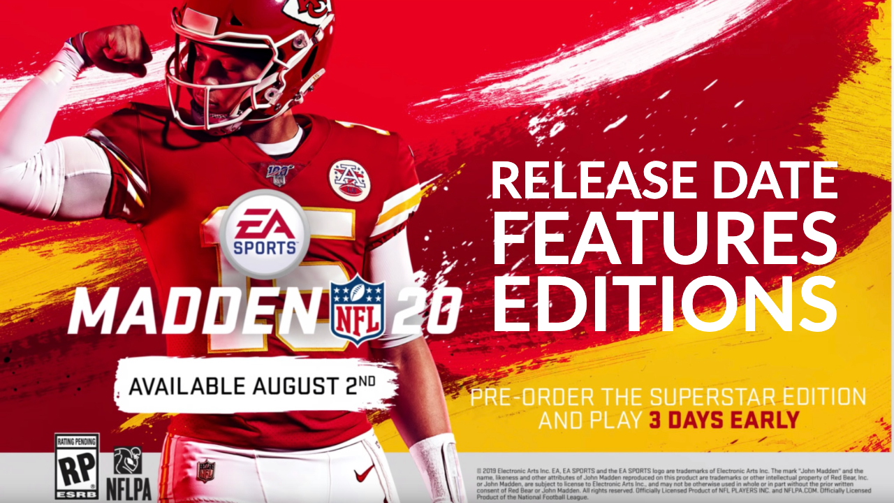 Madden 20 Release Date, New Features, Ratings & How to Play Early: 9
