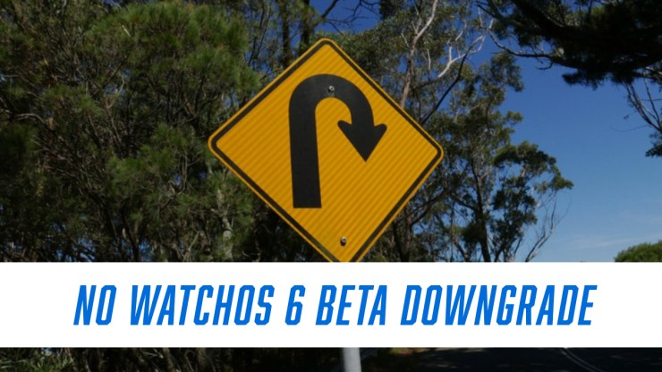 There is no watchOS 6 beta downgrade.
