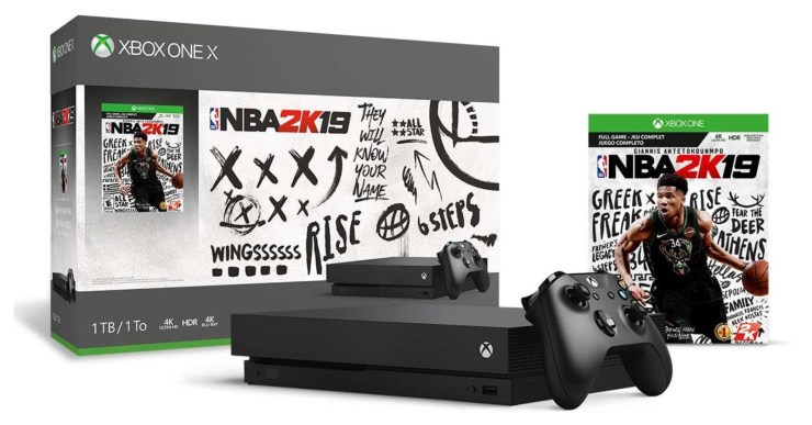 Save $200 on the Xbox One X with NBA 2K19.