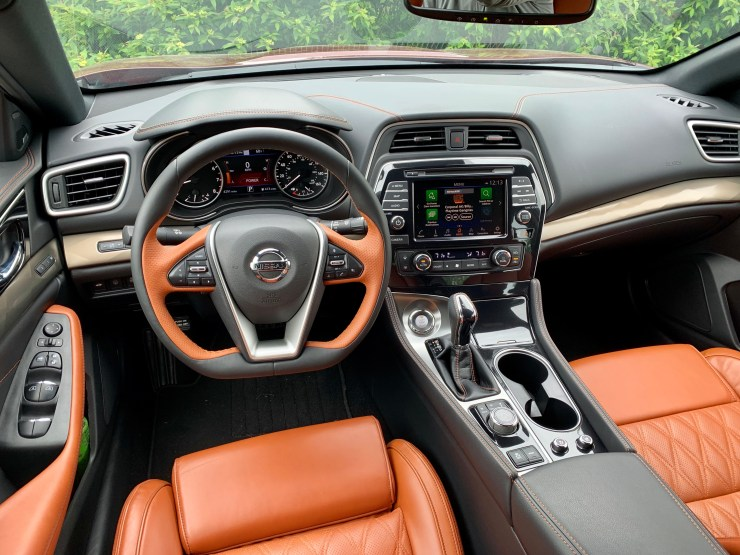 I love the drive focused interior of the Maxima.