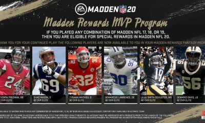 Play Madden 17, 18 and 19 before the Madden 20 release date for rewards.