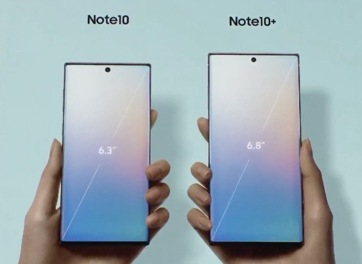 Galaxy Note 10 vs Galaxy Note 10 Plus: Display
