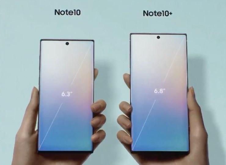 Galaxy Note 10 vs Galaxy S10+: Display Size & Notch