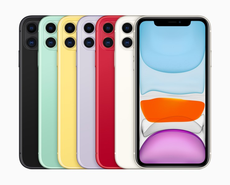 What are the iPhone 11 color options?
