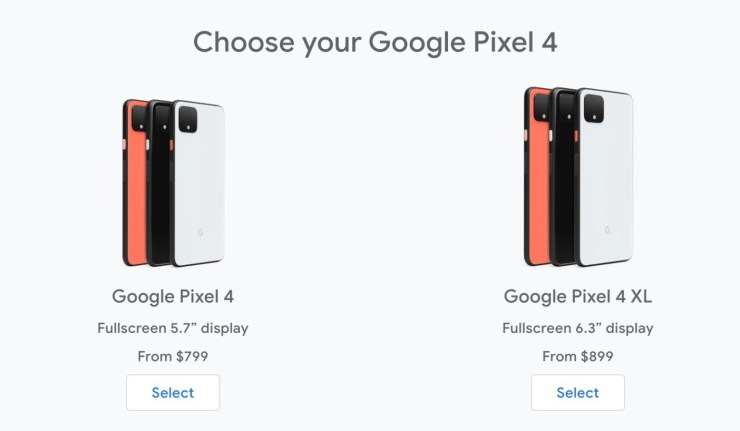 Pixel 4 vs Galaxy S10: Pricing