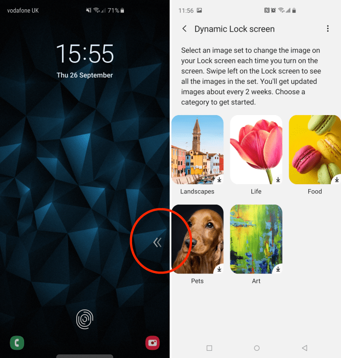 How To Disable The Galaxy S10 Dynamic Lockscreen Arrows