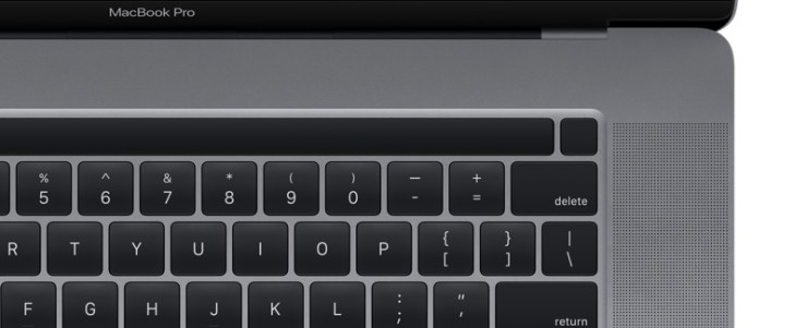 Render of the 16-inch MacBook Pro from macOS 10.15.1.