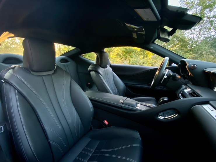 The interior is comfortable and luxurious.