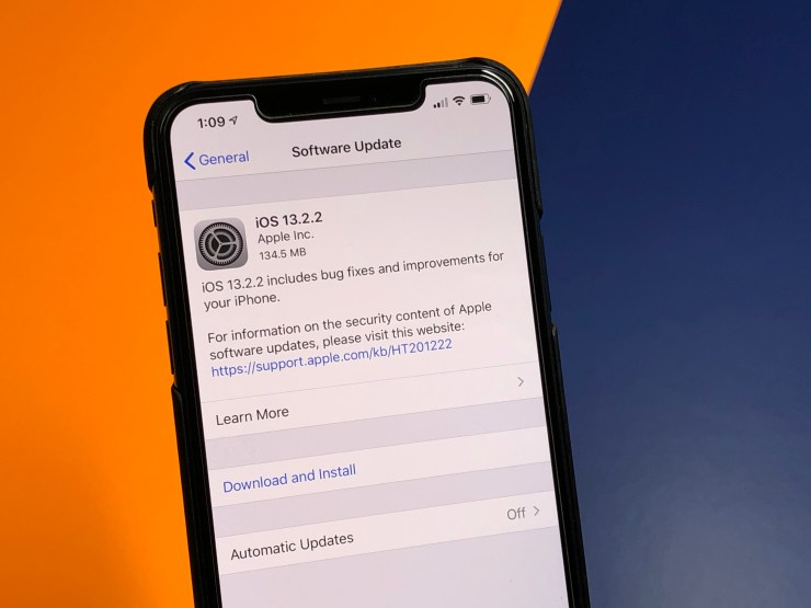 Install iOS 13.2.2 for Better Security