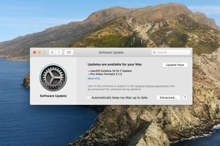 Install for macOS 10.15.6 Fixes and Security Updates