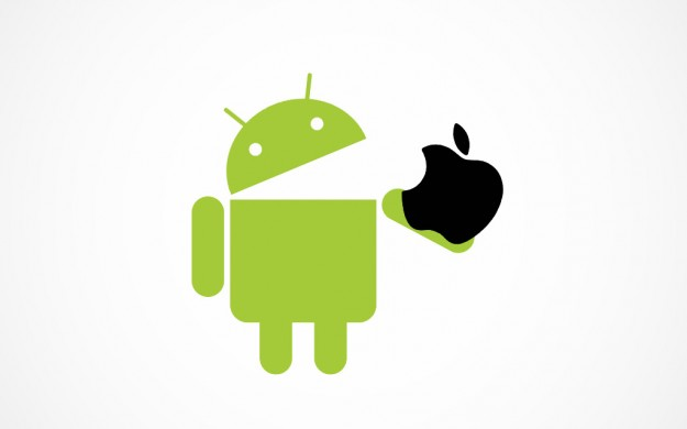 Android eats and Apple