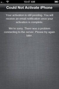 iPhone Activation Failed