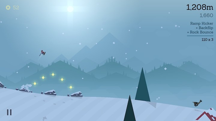 Time it right to bounce off rocks in Alto's Adventure.
