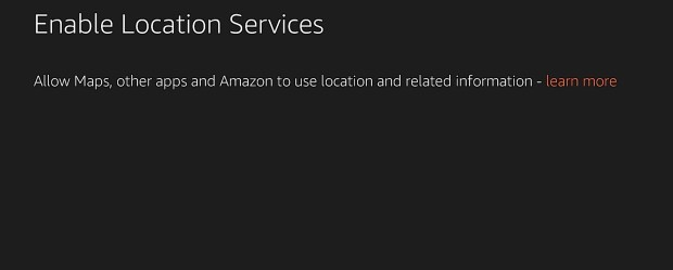 Enable Location Services so you can use maps and apps that rely on your current location.