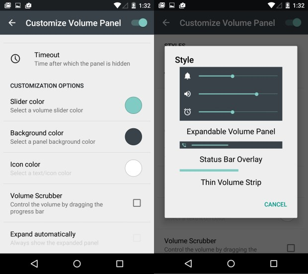 Customize the volume controls and the colors with SoundHUD.