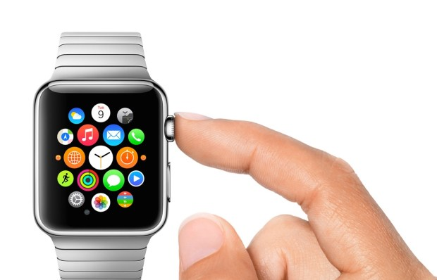 The Apple Watch display can sense the difference between a touch and a tap.