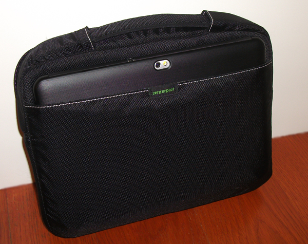 Brenthaven netbook sleeve with a Galaxy Tab in the back