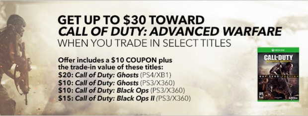 Save big with this Call of Duty: Advanced Warfare deal.