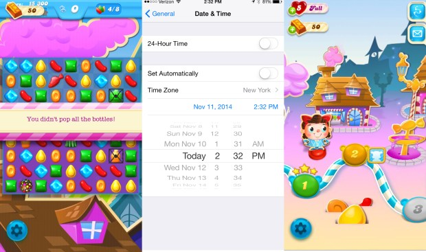 Use this Candy Crush Soda Saga cheat to get free lives.