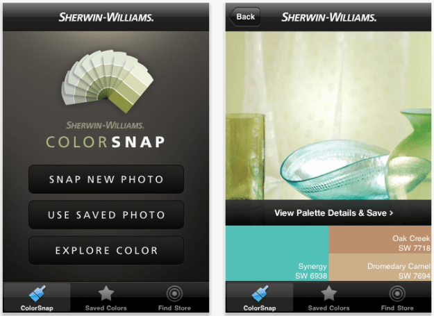 Sherwinn Williams Colorsnap iphone app