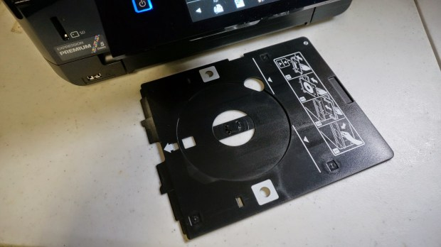 epson xp 820 cd/dvd tray