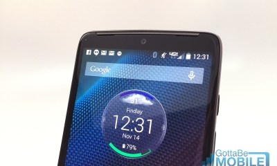 There is a single speaker on the front of the Droid Turbo, but that's powerful enough.