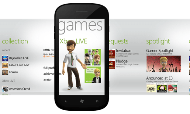 GamesHub Mango Windows Phone 7