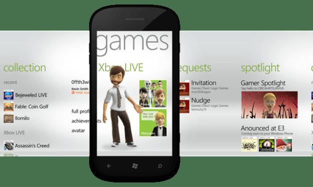 GamesHub Mango Windows Phone 7