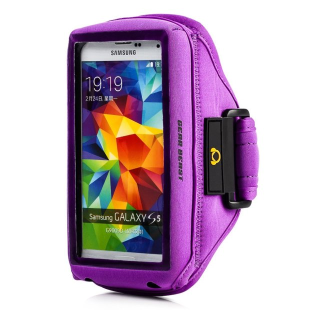 Keep the Galaxy S5 in a big case and use an armband.