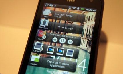 HTC Rhyme app drawers Home widget