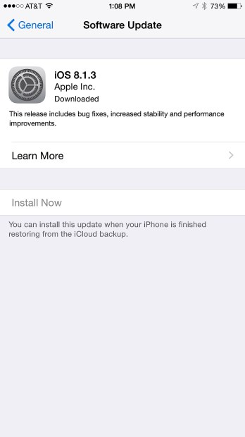 How to Install the iOS 8.1.3 Update - 7