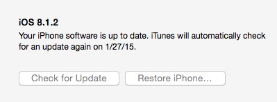 Click Restore iPhone to reset an iPhone in iTunes.