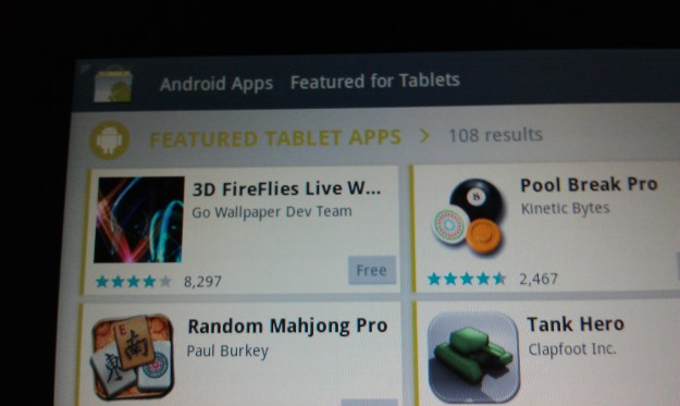 Android Market Tablet Apps